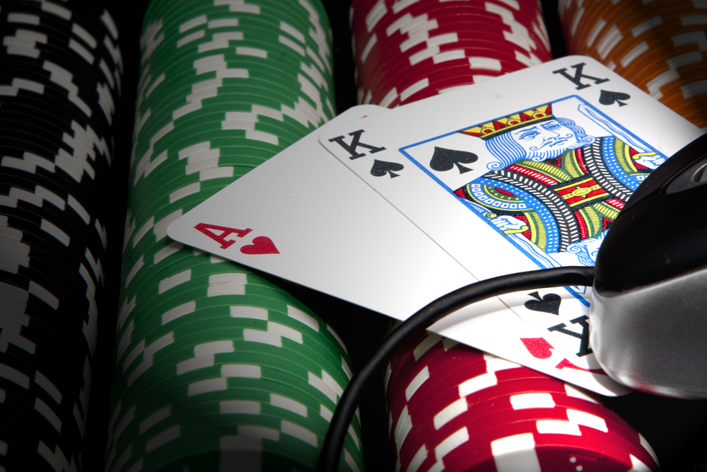 Play poker through the online gambling site
